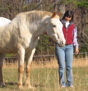 Sandy with her horse Sunny, age 36!